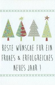 Weihnachtskarten Bo Beste Wünsche fur ein frohes & erfolgreiches neues jahr !